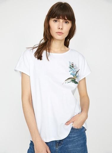 Koton Koton Beyaz T-Shirt Beyaz